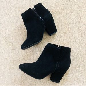 Black Booties Thick Heel